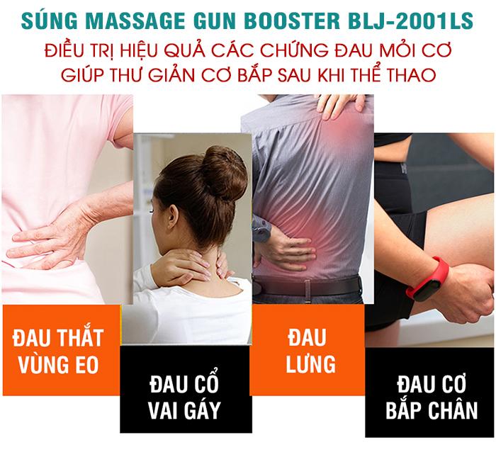 Súng massage cơ 6 đầu Ai Booster Lightsaber