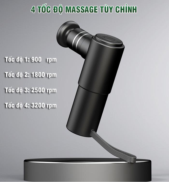 Súng massage gun điều trị căng cơ bắp Booster MINI