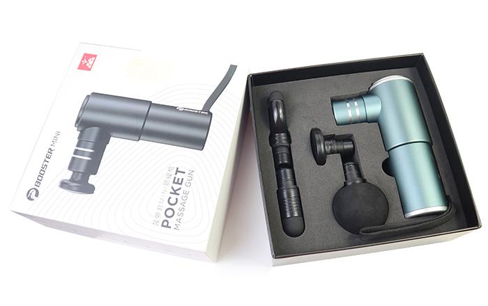 Súng mát xa cầm tay Booster Pocket MINI - Xám xanh có đèn led