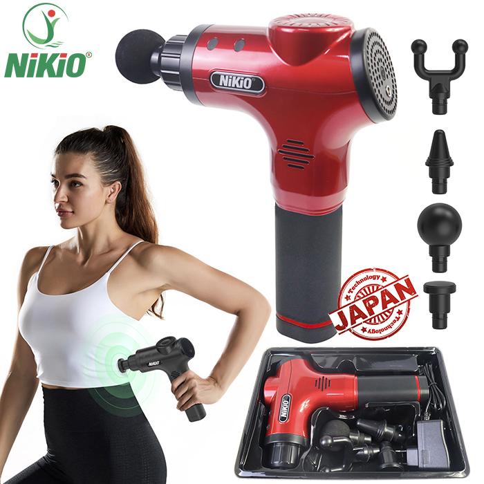 Súng massage cơ bắp Nhật Bản Nikio NK-170A - màu đỏ
