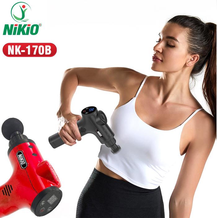 Súng massage cầm tay tắt tự động Nikio NK-170B - Đỏ / Nhật Bản