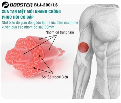 Súng massage giãn cơ Mỹ Booster Lightsaber AI - Tặng đế sạc