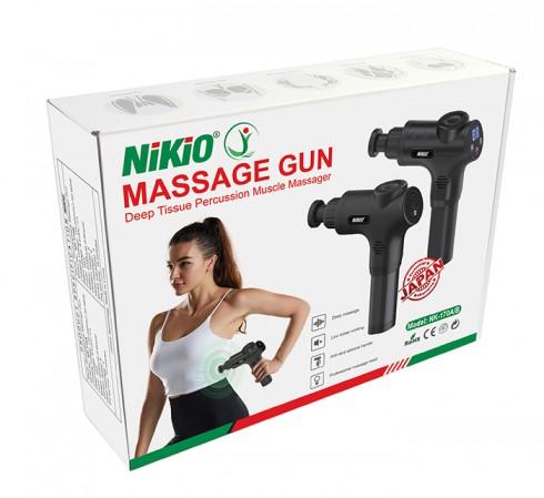 Súng massage cầm tay 5 chế độ 6 đầu Nikio NK-170B - Đỏ