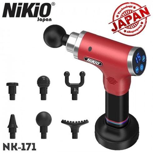 Súng massage gun trị đau cơ khởi phát muộn Nikio NK-171 - Đỏ tím