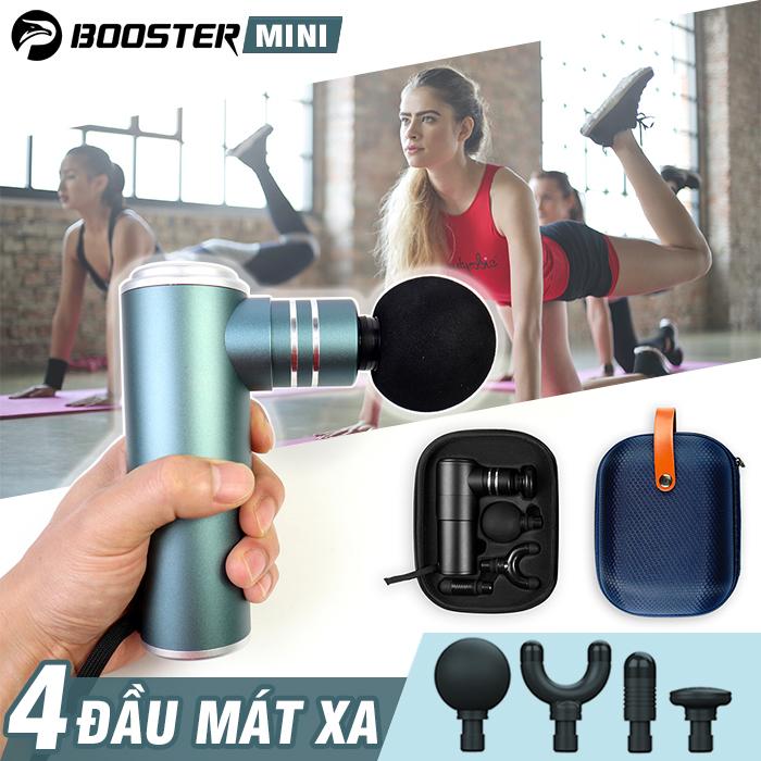 Video Súng massage gun điều trị đau nhức cơ bắp Booster Pocket MINI - Hàng chính hãng Mỹ